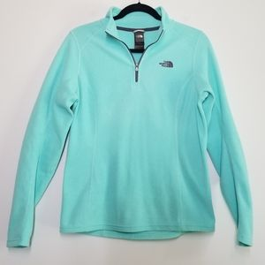The North Face fleece pullover mint & gray size M